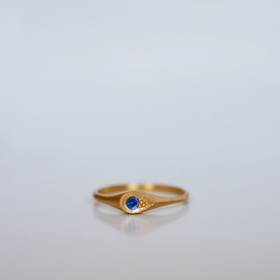 sapphire drop Ring - 18k gold