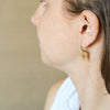 Leaf earrings - 18k solid gold stud earrings