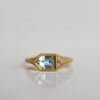 Fancy Baguette Ring - 18k gold & Aquamarine