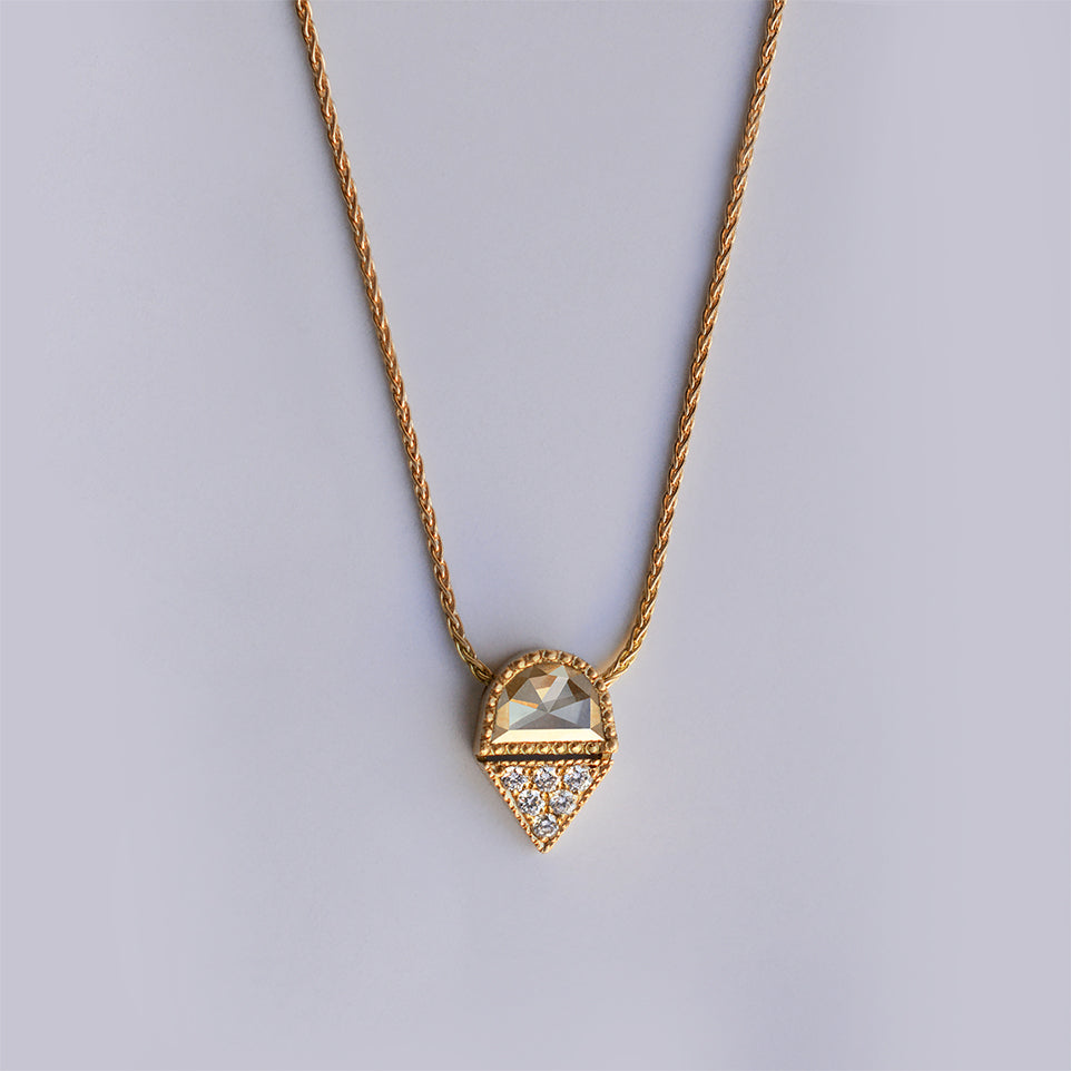 Sunset necklace - 18k gold & Diamonds