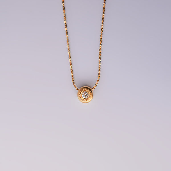 Diamond basic necklace - 18k solid gold