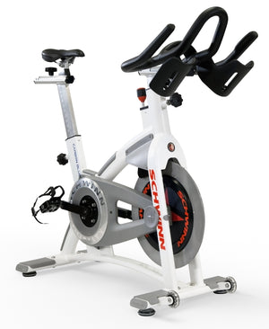 Schwinn AC Performance Plus with Carbon Blue Belt Drive Indoor Cycle-White - Indoor Cyclery