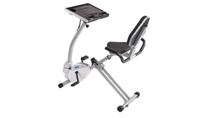 Stamina 2-in-1 Recumbent Exercise Bike Workstation and Standing Desk - Indoor Cyclery