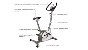 Stamina Magnetic Upright 1300 Exercise Bike - Indoor Cyclery
