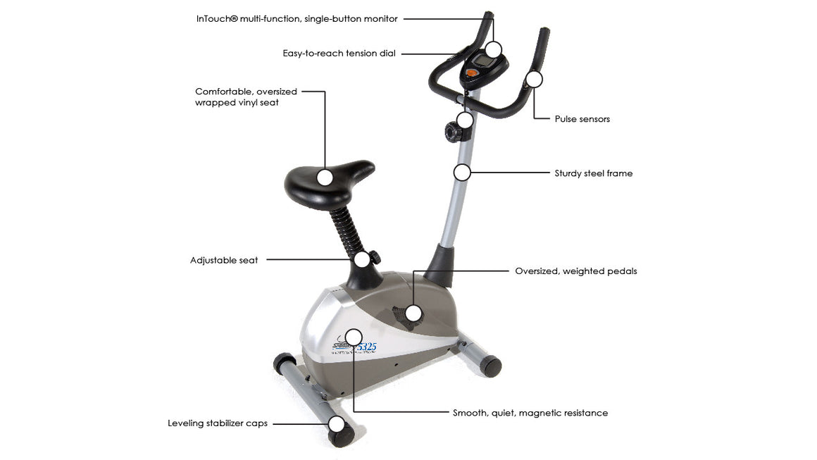 Stamina Magnetic Upright 5325 Exercise Bike - Indoor Cyclery