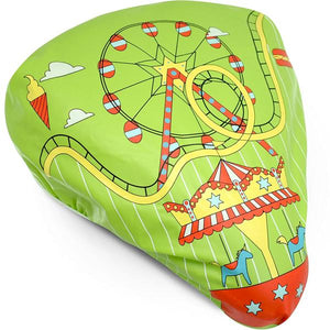 Bikeroo Rain & Dust Seat Cover -Amusement Park Design - Indoor Cyclery