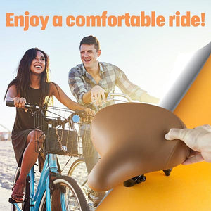 Bikeroo Cruiser Bike Seat-Brown - Indoor Cyclery