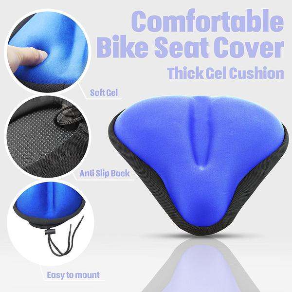 Bikeroo Large Exercise Bike Gel Seat Cushion-Blue - Indoor Cyclery