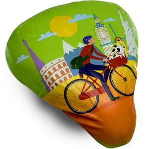 Bikeroo Rain & Dust Seat Cover -Bike Traveler Design - Indoor Cyclery