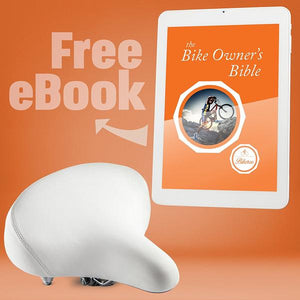Bikeroo Cruiser Bike Seat-White - Indoor Cyclery