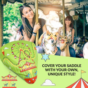 Bikeroo Rain & Dust Seat Cover -Amusement Park Design - I