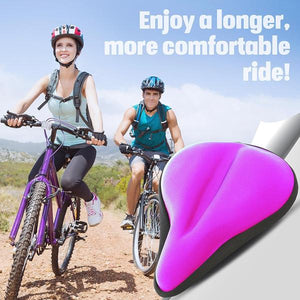 Bikeroo Large Exercise Bike Gel Seat Cushion-Purple - Indoor Cyclery
