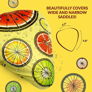 Bikeroo Rain & Dust Seat Cover -Juicy Fruits Design - Indoor Cyclery