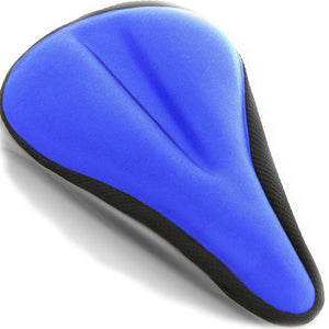 Bikeroo Comfortable Exercise Bike Gel Seat Cover-Blue - Indoor Cyclery