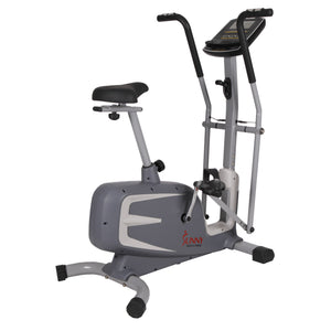 Sunny Health & Fitness Cross Training Magnetic Upright Bike - Indoor Cyclery