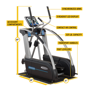 Endurance E5000 Premium Elliptical Trainer - Indoor Cyclery