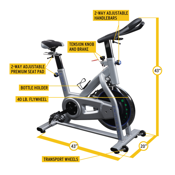 Endurance ESB150 Indoor Exercise Bike - Indoor Cyclery