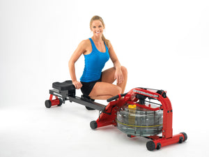 First Degree Fitness Newport Challenge AR Fluid Rower with Adjustable Resistance - Indoor Cyclery