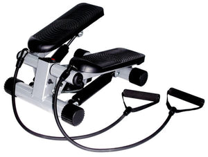 Sunny Health & Fitness NO. 012-S Mini Stepper Step Machine w/ Resistance Bands and LCD Monitor - Indoor Cyclery