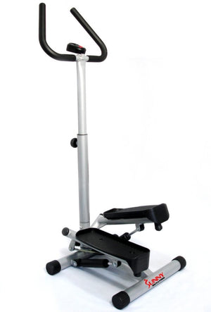 Sunny Health & Fitness NO. 059 Twist Stepper Step Machine w/ Handle Bar and LCD Monitor - Indoor Cyclery