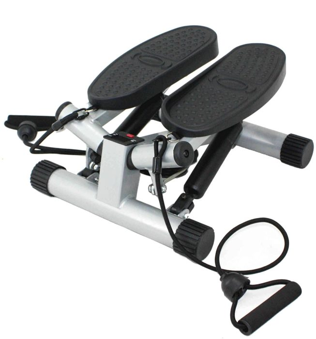 Sunny Health & Fitness Twisting Stair Stepper with Bands - Indoor Cyclery