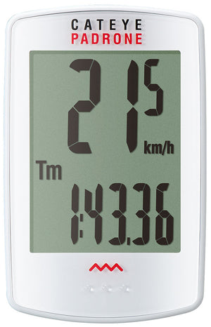 CatEye Padrone (with Stopwatch) White CC-PA100W - Indoor Cyclery