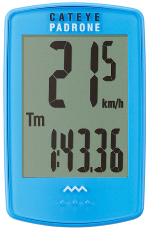 CatEye Padrone (with Stopwatch) Blue CC-PA100W - Indoor Cyclery