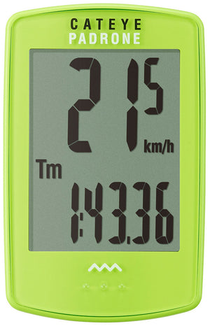 CatEye Padrone (with Stopwatch) Green CC-PA100W - Indoor Cyclery
