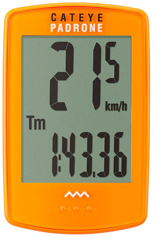 CatEye Padrone (with Stopwatch) Orange CC-PA100W - Indoor Cyclery