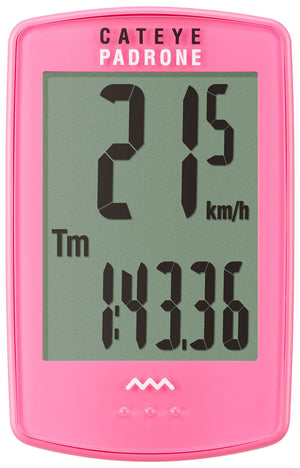 CatEye Padrone (with Stopwatch) Pink CC-PA100W - Indoor Cyclery