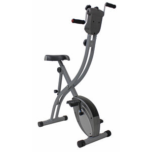 Sunny Health & Fitness Folding Upright Bike With Arm Exerciser - Indoor Cyclery