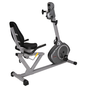 Sunny Health & Fitness SF-RB4631 Recumbent Bike with Arm Exerciser - Indoor Cyclery