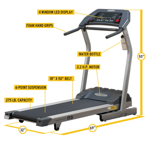 Endurance TF3I Folding Treadmill - Indoor Cyclery
