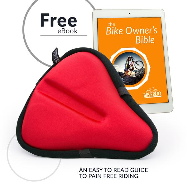 Bikeroo Large Exercise Bike Gel Seat Cushion-Red - Indoor Cyclery