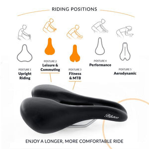Bikeroo Comfortable Bike Seat for Men - Indoor Cyclery