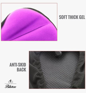 Bikeroo Comfortable Exercise Bike Gel Seat Cover-Purple - Indoor Cyclery