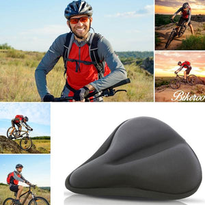 Bikeroo Large Exercise Bike Gel Seat Cushion-Black - Indoor Cyclery