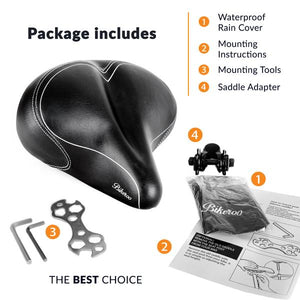 Bikeroo Oversize Comfortable Bike Saddle - Indoor Cyclery