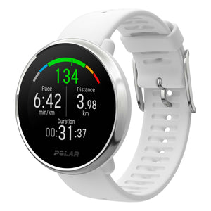 POLAR IGNITE FITNESS WATCH WITH GPS AND HEART RATE | WHITE-SILVER