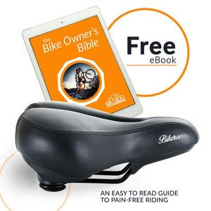 Bikeroo Comfortable Bike Seat for Women-Black - Indoor Cyclery