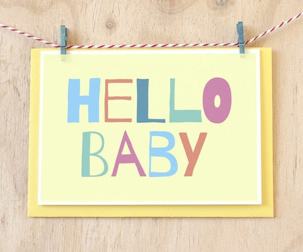 hello baby greeting card gifts by mummy