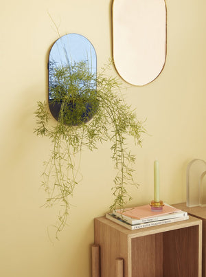 Blue Hanging Plant Pot with Mirror