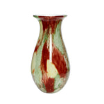 Multi Coloured Glass Vase - Red, Green