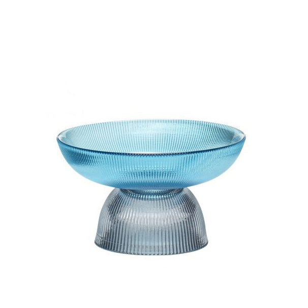 Detachable Small Glass Bowl Blue/Smoke