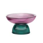 Detachable Small Glass Bowl Pink/Green