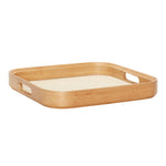 Bamboo Square Tray with Linen Bottom Large Size