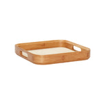 Bamboo Square Tray with Linen Bottom Medium Size