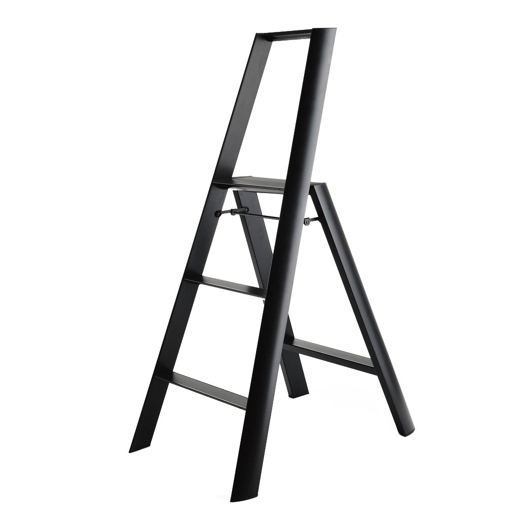 Niwaki Lucano 3 Step Stool in Black