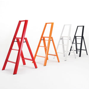 Niwaki Lucano 3 Step Stool in Orange