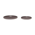 Set Of 2 Charcoal Ceramic Plates